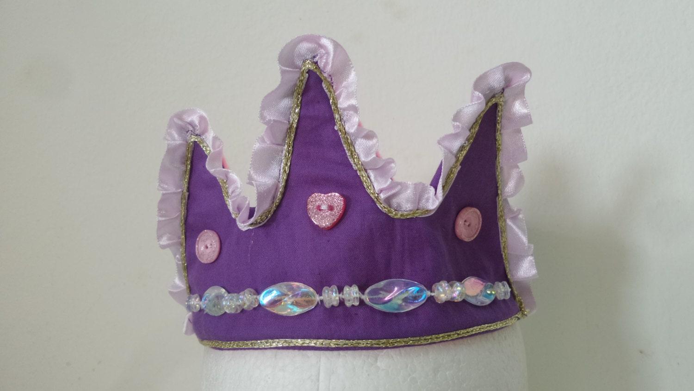 Princess Crown Purple Crown Fabric Crown Princess by ...