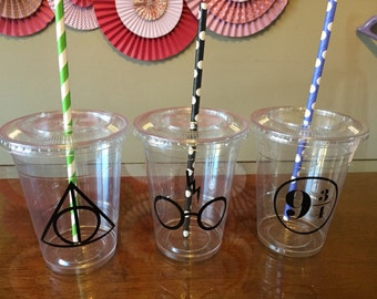 Harry potter inspired plastic cups 16 cups (16oz) ... Great for parties, birthdays, celebrations