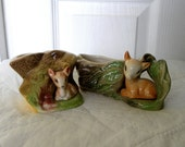 Small Fauna Vase (choose one) - by Eastgate Pottery in England - Vase with Deer and Log