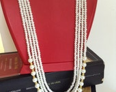 glass pearl necklace, Bridesmaid Necklace, Bridesmaid Jewelry, Wedding Jewelry,bridesmaid gift, Christmas accessories