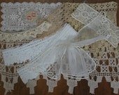 Vintage and Antique Lace and Trim Inspiration Kit for Altered Art and Lace Books