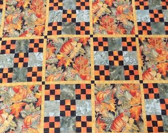 Pumpkin lap quilt 9 patch quilt 55 x 75