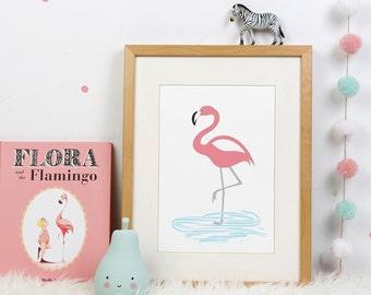 Digital Print: Flamingo
