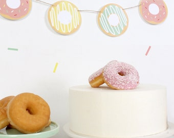 Printable Garland: DONUTS