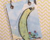 Recycled  Notebook - Large Refillable Notepad - Upcycled Children's Book - Eel