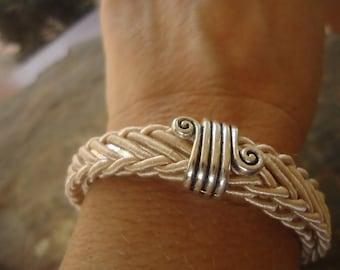 INTERTWINED & SPIRAL SPACER - natural bracelet (1790)