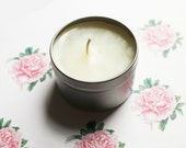 Peony Scented Candle - Vegan Candle - Homemade Candles - Natural Candles - Tin Candle - Container Candle