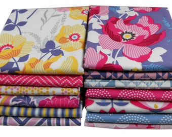 Fat Quarter Bundle - ATRIUM (Fuchsia Palette) - Joel Dewberry for Free Spirit Fabrics - 13 pcs
