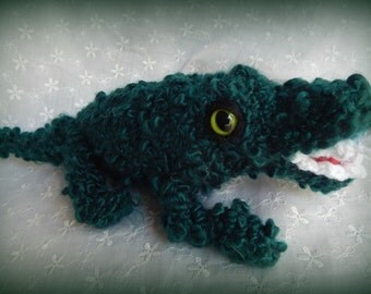 Alligator Amigurumi, Stuffed Alligator, Handmade Alligator, Handmade Gator, Crocodile Made to Order, Custom Reptile Stuffie, Lizard