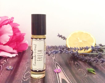 Lavender Citrus Perfume -- Essential Oil Fragrance Perfume Aromatherapy Oil with pure Lavender and Citrus essential oils