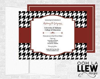 University of Alabama Graduation Announcement and Invitation