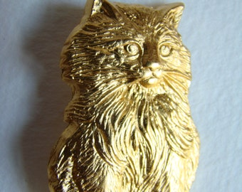 Cat brooch made for SPA (France) or ASPCA (USA) in french Yves Saint Laurent manufacture