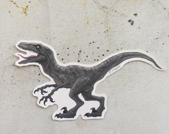 Velociraptor JURASSIC PARK Waterproof Sticker