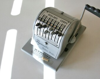 Vintage Check Writer, Paymaster Ribbon Writer, Indutrial