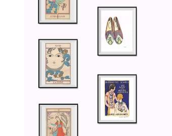 Any five 21 x 29,7 cm prints/Custom Laureen Topalian painting print set/persian painting/watercolor print/set of 5 prints/home decor