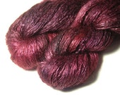 REI Tussah Silk Mohair in Wine - One of a Kind