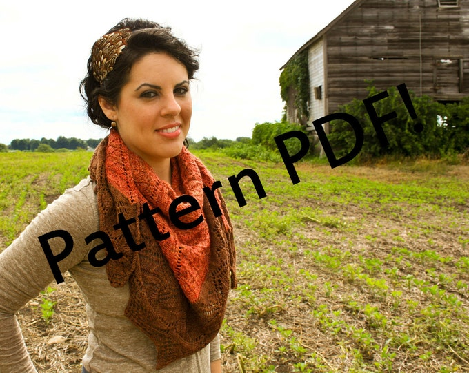 Through the Woods Shawl & Shawlette: Robert Frost Poem Inspired PDF Knitting Pattern by The Sexy Knitter