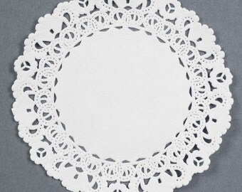 "Paper Doilies 50 Lace Paper Doily, 4"", 4 inch Doilies Wedding Napkin Rings Seating Place Cards Invitations, Berry Basket liners, Baby Shower"