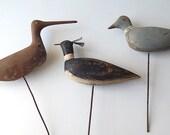 French Vintage Handmade Bird Hunting Decoy Folk Art