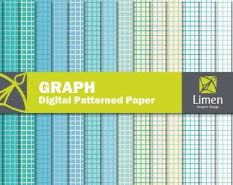 Graph Digital Paper Pack, Graph Paper, Grid Paper, Grid Digital Paper, Lined Paper, Graph Scrapbook Paper, Graph Pattern, Graph Background