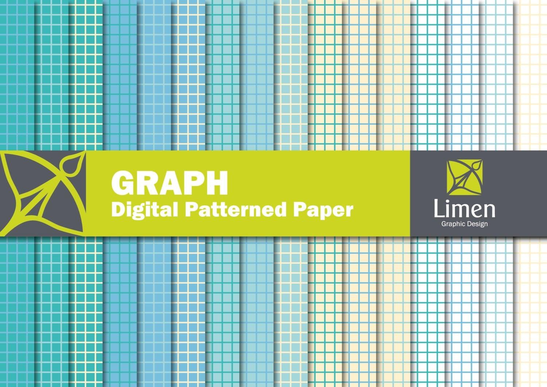 Graph Digital Paper Pack Graph Paper Grid Paper Grid Digital – Digital Graph Paper