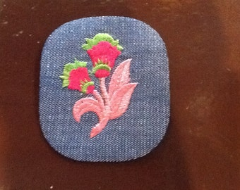 vintage flower 70 s retro  patch  sew-on and never used free shipping