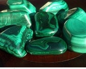 Malachite - Large Tumbled Stone,  free form, heart chakra, Reiki healing, metaphysical crystal