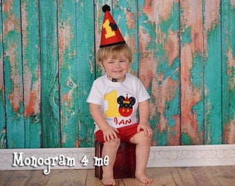 Mickey Mouse Birthday Hat - Party Hat - Birthday Hat
