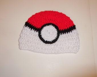 crochet pokemon, inpired by the new pokemon go game, child beanie, skullcap, winter hat, back to school