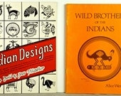 On Hold!   NATIVE AMERICAN INDIAN Designs, 2 First Edition Softcover Books 1983 and 1977