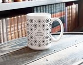 T.S. Eliot Coffee Mug, Ceramic Mug, Literary Gift, Coffee Cup College Student Gift, English Major, But First Coffee, Inspirational Mug