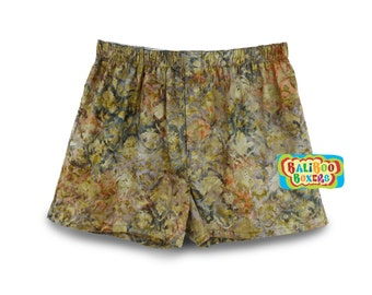 Abstract Boxers, Cotton Boxer Shorts, Asbtract Batik Shorts, Mens Shorts, Batik Sleep Shorts, Cotton Batik Boxers