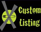 Custom listing for Stephanie Graham
