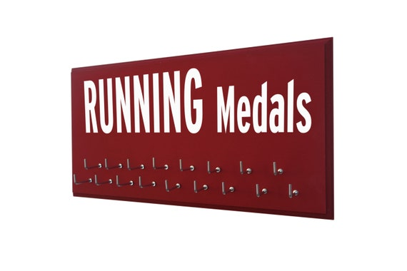 Display your Pride and Joy with Running Medal display, gifts for runners, 5k, 10k, marathons, wooden wall mounted hanger