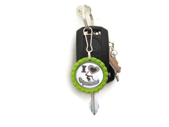 Bottle Cap Keychains, Bottle Cap Zipper Pulls, Sports Keychain, Sports Zipper Pull, I Love Sports Keychain, I Love Sports Zipper Pull