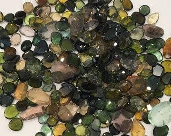 Tourmaline polki cut loose stones