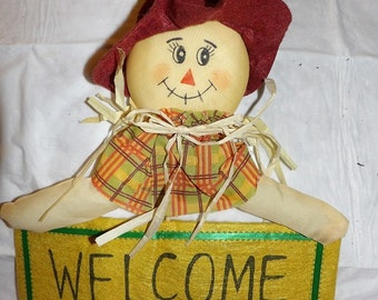 Rustic Scarecrow wecome sign wall decoration - hsw7