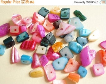 50% OFF Moving Sale - Shell Gravel Mixed Color Beads Z-34