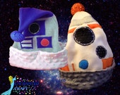 Santa Hat for the Star Wars fan- R2D2 or NEW BB-8 style Christmas