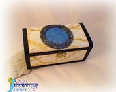 STARGATE Box- wooden chest with detailed 3-d Stargate and event horizon- get your name on it