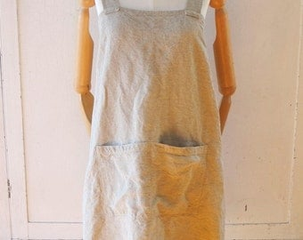 Belgian Linen Cross Back Maker's Japanese Apron