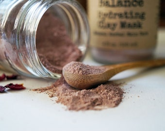 Rose Petal Soothing Antioxidant Masque - Balance Pink Clay Masque - Organic Flower Mask - Clay Mask