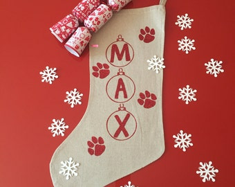 Paw-fect Purr-fect for Pets Christmas Stocking, Pet Gift Custom made for you, Ships fast and free