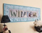 Winter-Cross Stitch-Wall Hanging-Finished Cross Stitch-Completed Cross Stitch-Winter Quilt