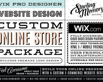 CUSTOM E-COMMERCE Wix WEBSITE Design Package - Custom Online Store Wix Website Package - Wix Custom Online Store Website Package - Wix Pro
