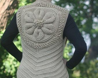Crochet Pattern: Embossed Daisy Vest