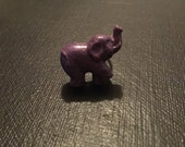 Purple Glitter Elephant Adjustable Ring