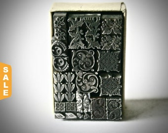 August is Letterpress Month - 20% off Vintage Letterpress Dingbats, Ornaments or Fleurons for Printing Stamping and Decor