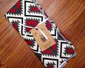 SALE 30% OFF. Red snd Grey Aztec Burp Cloth for Boys and Girls. Gender Neutral. Baby Burp Cloth.