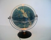 Vintage Illuminated Celestial Globe made in Italy for the French Market